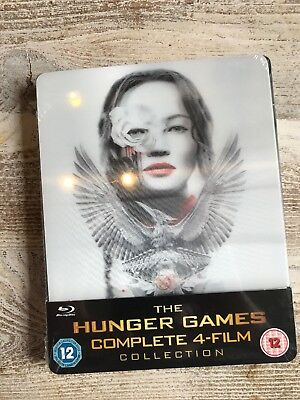 The Hunger Games - Complete Collection (4 Blu-ray Ltd Ed Steelbook)