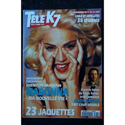 Tele K7 Video Cinema Tele 675 Aout 1996 Cover Madonna + Interview