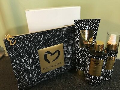 Pure Romance Peruvian Cocoa Berry Coochy Kiss Skinny Dip Deluxe Set w/ Case