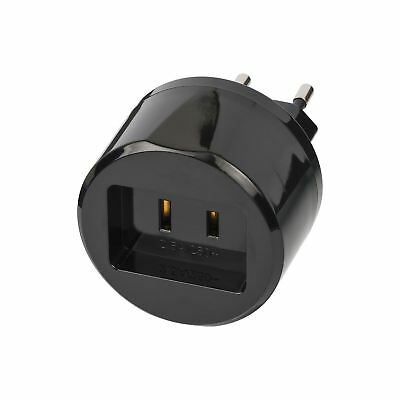 Brennenstuhl Travel Adapter USA-to-Europe with 2.5 A Fuse BN-1508500010