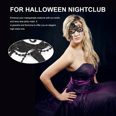 Hollow Peacock Lace Masquerade Party Eye Mask Veil for Halloween F4