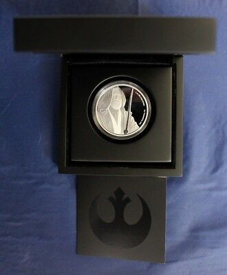 "2017 Niue 1oz Silver Proof coin ""Star Wars - Obi-Wan"" in Case with COA    (P6/2)"