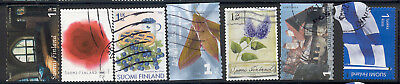 Finland -lot of 7 used stamps with a c.v. of $ 1.90 or more each Lot # 65