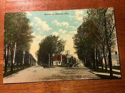 Postcard of Speedway in Bellevue, Ohio. Posted 1910
