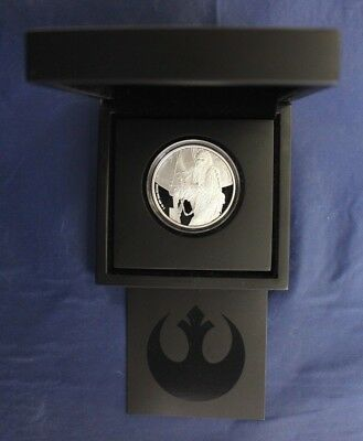 "2017 Niue 1oz Silver Proof coin ""Star Wars - Chewbacca"" in Case with COA  (P6/4)"