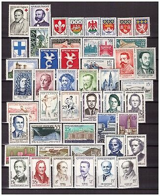 s24584) FRANCE 1958 MNH** Nuovi** Complete year set Y&T 1141/1188
