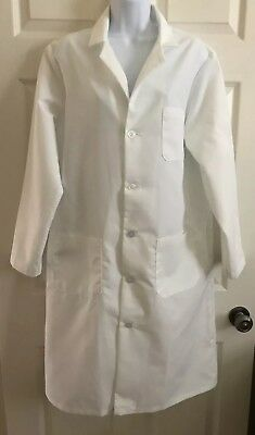 "Best Medical Unisex L/S Lab Coat 3 Pocket Side Vent White 41"" Length Size Small"