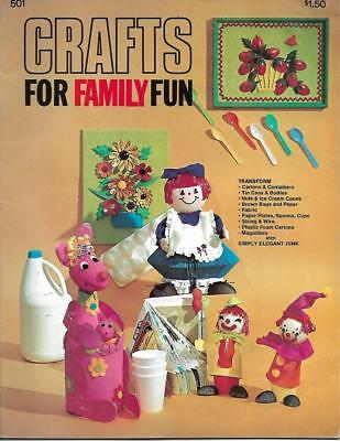 Crafts for Family Fun Bk 501 Recycled Materials Egg Cartons Magazines More 1974