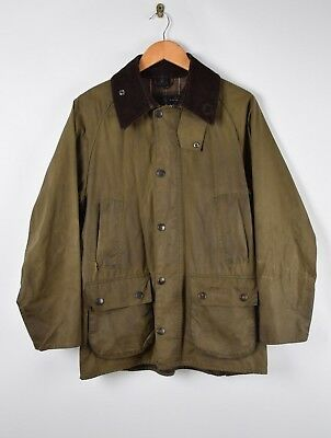Mens Barbour Olive Green Classic Bedale Waxed Jacket Size: M 44 RRP: £229.00