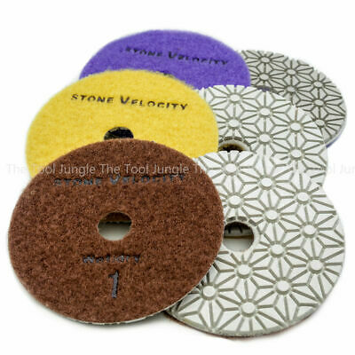 The Tool Jungle 3 Step Diamond Polishing Pads 4 Inch Granite Quartz  Stone