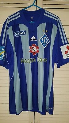 2013-14 Dynamo Kiev Away Shirt Jersey Match Worn Ukraine