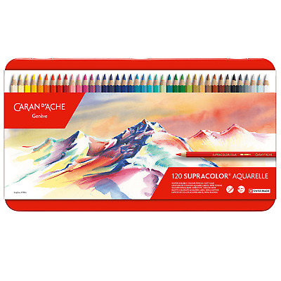 Caran D'Ache SupraColor Artist Quality Soft Water Soluble Colour Pencils 120 Set