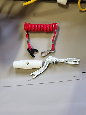 OMC/MERCURY outboard safety kill/stop lanyard and recoil starter rope