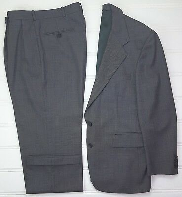 Polo Ralph Lauren Suit 40R Gray Two Button Wool Lined Vented Mens Size Sz 33x28