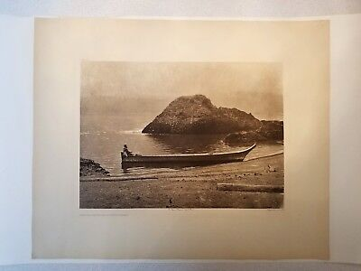 """Edward S Curtis Photogravure 18 x 22: """"The Columbia Near Wind River"""""""