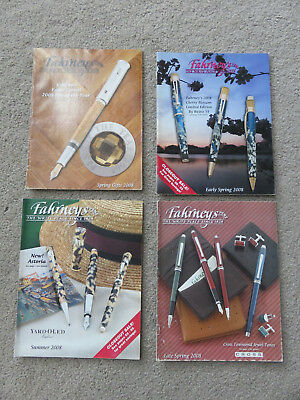 Fahrney's Pens Catalogs - 2008 - 4 Issues - Mont Blanc, Cherry Blossom, Pelikan