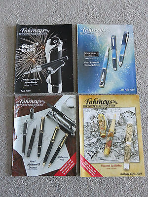 Fahrney's Pens Catalogs - 2008 - Mont Blanc, Disney Fantasia, Pelikan - 4 Issues