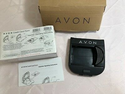 Avon Credit Card Imprinter & Charge Forms Model 990 Addressograph Bartizan