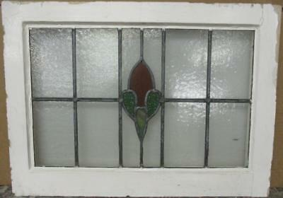 "MID SIZED OLD ENGLISH LEADED STAINED GLASS WINDOW Nice Abstract 25.5"" x 18.5"""