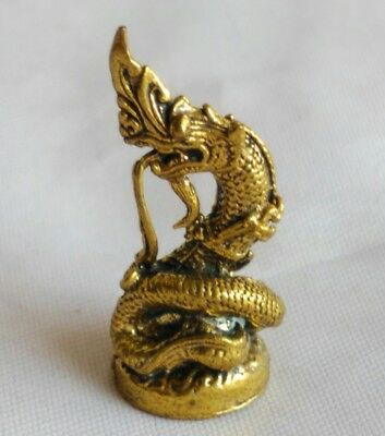 Statue serpent Naga Talisman Thai Amulet Yant  Fortune wealth Overcome obstacles