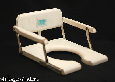 Old Vintage Retro 1950 60s Toidey Child Potty Training Wooden Chair Seat MCM USA