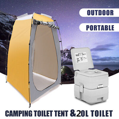 20L Outdoor/Indoor 5 Gallon Portable Toilet & Changing Tent Flush Travel Camping