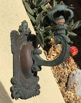 Antique Architectural Solid Bronze Art Nouveau Wall Sconce Light Fixture