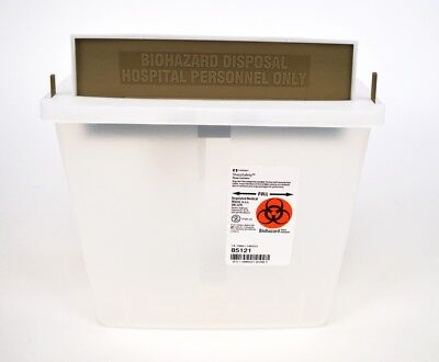 Lot of 20 NEW Covidien SharpSafety 85121 In Room Container 5 Quart Clear W/Lid