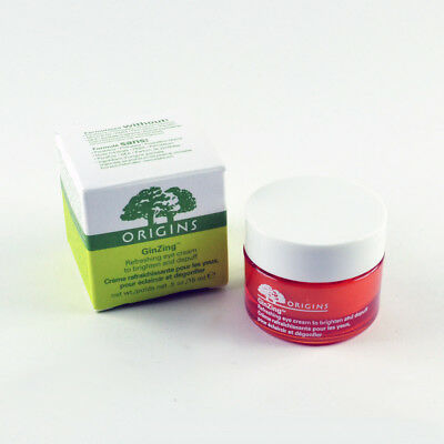 Origins GinZing Refreshing Eye Cream Brighten & Depuff - Size 0.5 Oz. / 15mL