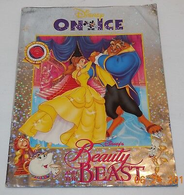 Disney On Ice Beauty And the Beast Program vintage Rare OOP