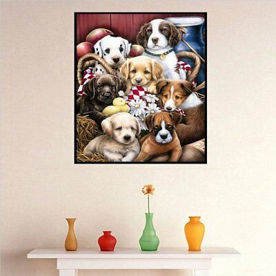 Lovely Dog Pattern Modern Art Painting Resin Diamond Painting Embroidery DIY  1N