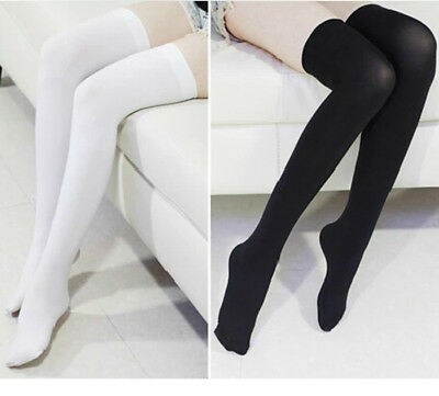 Women Girl Knit Extra Long Boot Socks Over Knee Thigh High School Stocking