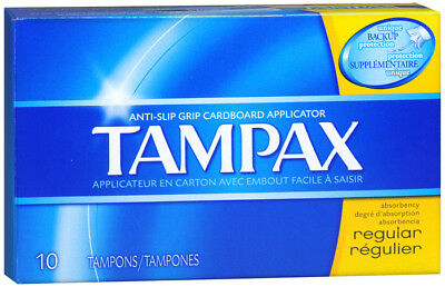 Tampax Jetables dans les Toilettes Taille Standard Tampons 10 Ct, Anti Dérapage