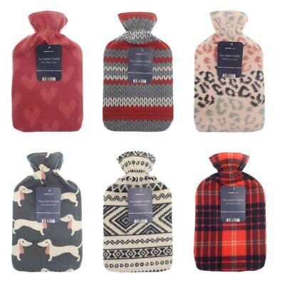 Premium Hot Water Bottle with Acrylic Novelty Trendy Jacquard Knitted Cover - 2L