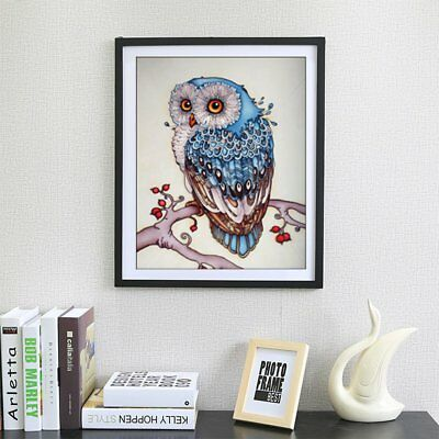 Living Room 5D DIY Diamond Plated Embroidery Animal Owl Pattern Painting GT@
