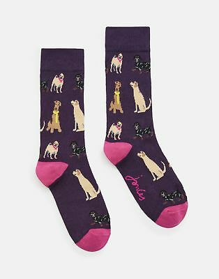 Joules 124985 Bamboo Socks 4 8 in BLUEBERRY Size 4in8