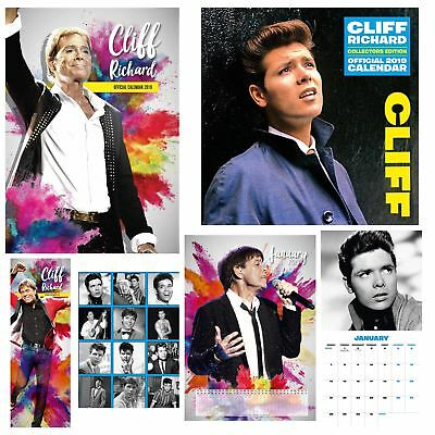 Official 2019 Cliff Richard Calendar A3 Square Slim Artist Wall Hanging Diary