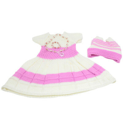 """MagiDeal Pink Winter Sweater Skirt Sets for 18"""" American Girl Doll Clothes"""