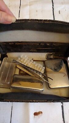 Vintage Travel Kit Leather from Western Germany