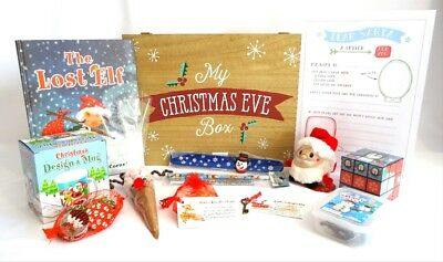 Christmas Eve Box, Luxury Pre filled Wooden Box, 12 items, Deluxe Christmas Box