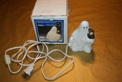 House of Lloyd Halloween Friendly Lighted Ghost with baby and owl