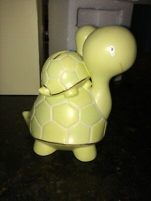 New Lenox Turtle Bank Ceramic Baby Parent Mother Father 5.7""