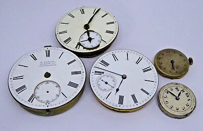 Job Lot of Antique & Vintage Pocket Watch and Wristwatch Movements Waltham Mass