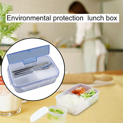 Portable Lunch Box with Soup Bowl Chopsticks Spoon Food Containers 1000mL G@