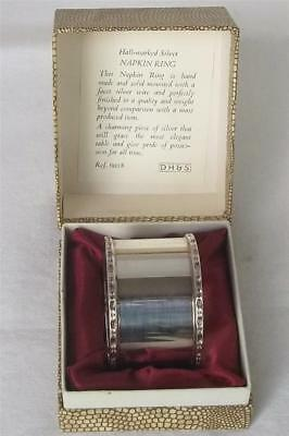 A Stunning Boxed Solid Sterling Silver Hand Made Quality Napkin Ring Dates 1973.