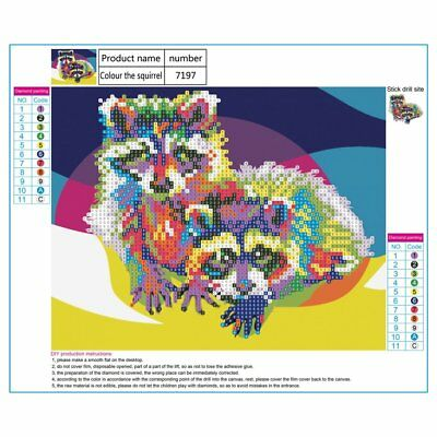 Colorful Cat Pattern Art Diamond Painting Wall Decor Embroidery Decoration  1N