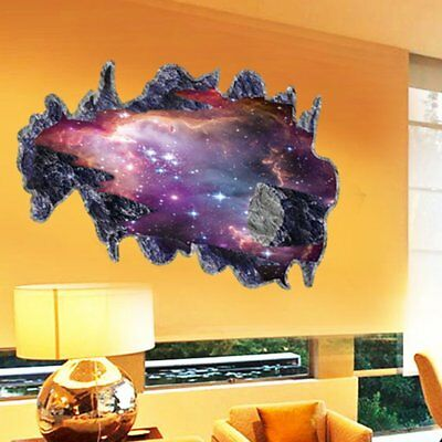 3D Removable Meteorite Wall Sticker Mural Vinyl Decals Living Room Art Decor  1N