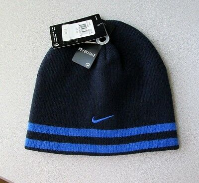 c151067c754 New Boys Nike Reversible Winter Hat Beanie Size 8-20 Obsidian Dark Blue  15