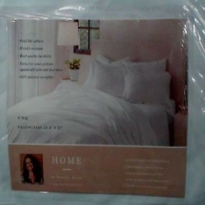 Jennifer Adams Home The LUX Collection Standard Size Pillowcases Set of 2 WHITE