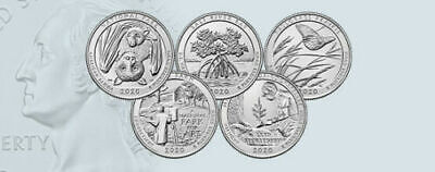 2018 D NATIONAL PARK QUARTER ATB Denver Set ~ 5 BU Coins